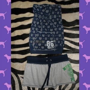Victorias Secret PINK Skirt & Tube Top Outfit